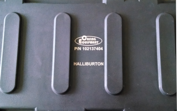 Halliburton laser marked logo